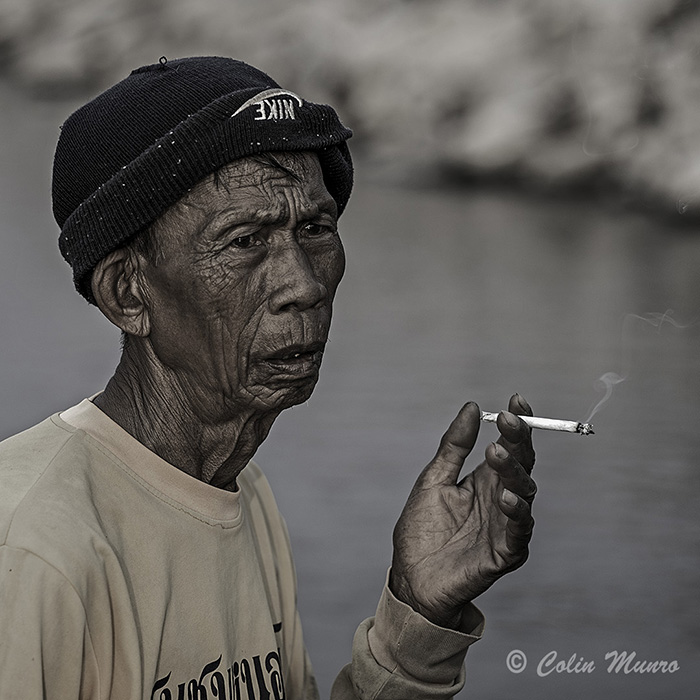 Portrait of a Thai fisherman by Colin Munro Photography