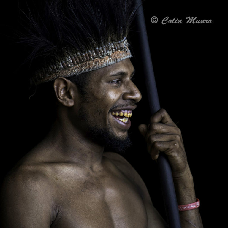Young warrior Milne Bay apua New Guinea photographed by Colin Munro Photography